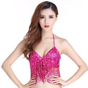 997a5d9e7a Women Sexy Sequin Bra Performance Wear for Belly Dance Halloween Bra ...