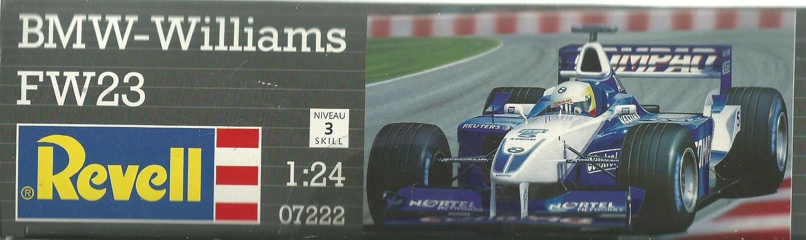 KIT REVELL 1 24 AUTO DA MONTARE F1  BMW WILLIAMS FW23 18,6 CM  07222