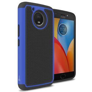 cozy fresh 6a090 54cd0 Details about Blue Case For Motorola Moto E4 Plus / Moto E Plus 4th Gen  Hybrid Phone Cover