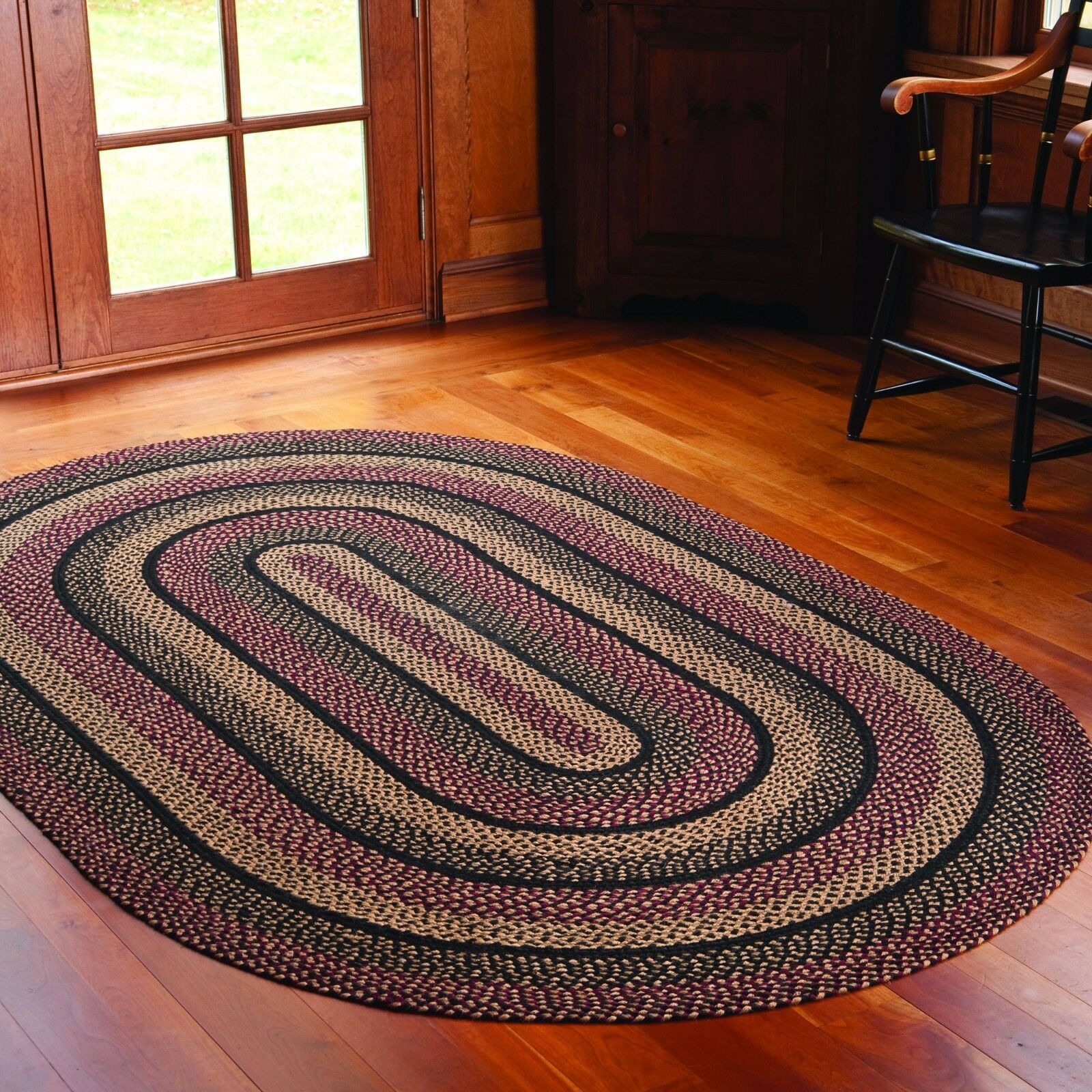 Ihf Home Decor Braided Area Rug 20 Quot X 30 Quot Jute Oval Carpet