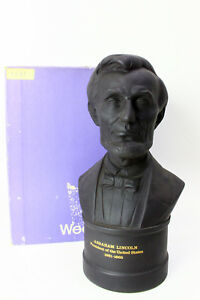 Wedgwood-8-1-4-034-Basalt-Bust-of-Abraham-Lincoln-Limited-Edition-1131-of-2000