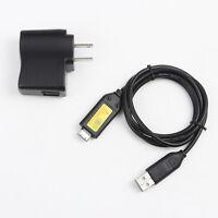 Usb Ac Adapter Battery Charger +usb Cord For Samsung Tl205 Tl210 Tl220 I8 Camera