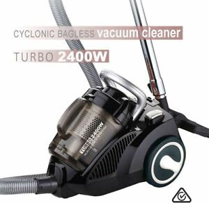 Sansai-2400W-Turbo-Cyclonic-Cyclone-Bagless-HEPA-Filter-Vacuum-Cleaner-Silver