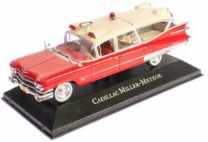 CADILLAC-SUPERIOR-Miller-Meteor-Ambulance-1-43-scale-partwork-model