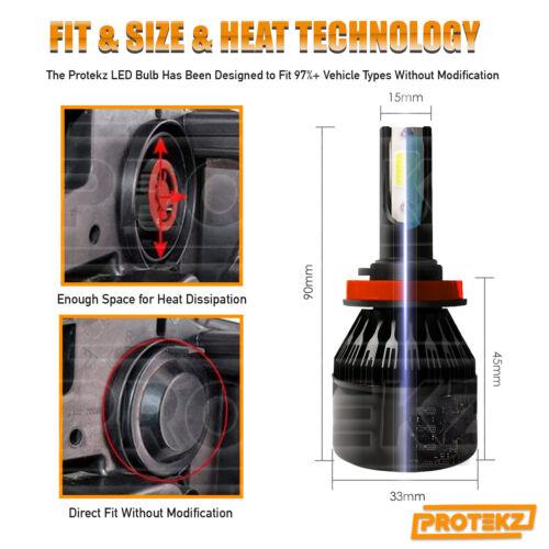 H11 LED Headlight Kit Plug/&Play Turbo CoolFan for Chevrolet Impala Fog Light