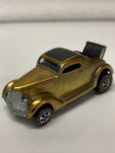 Hot Wheels Redline Classic '36 Ford Coupe 1968 Gold Made in United States