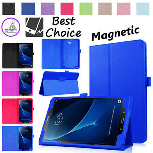Magnetic-Leather-Folio-Case-Smart-Cover-For-Samsung-Galaxy-Tab-A6-10-1-T580-T585