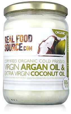 RealFoodSource Certified Organic Argan Oil Blended with Virgin Coconut Oil