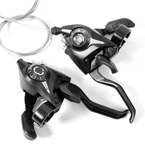 3 x 7// 3x8 Speed Bike Shifter//Brake Lever Kit w// Brake Cable for MTB Bicycle USA