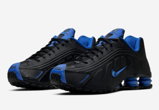 Nike Shox R4 Casual Shoes Black Game Royal Blue 104265-053 Men's Multi Size NEW