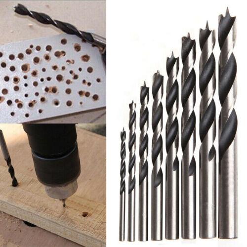 8Pcs//Set Twist Drill Bits Kit 3//4//5//6//7//8//9//10mm For Woodworking Metal Wood Tool