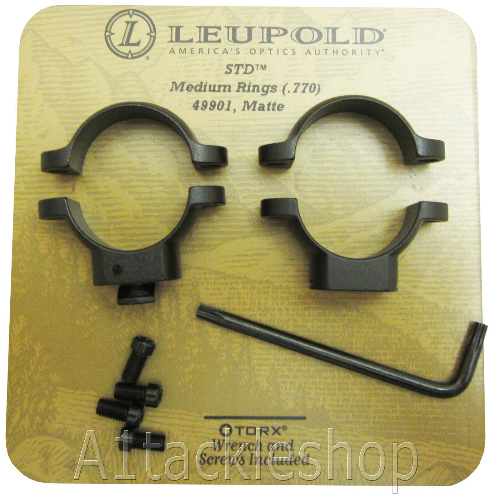 Leupold 1  Std Soporte De los anillos de  alcance-elegir Altura-Estándar Negro Mate  precios mas baratos