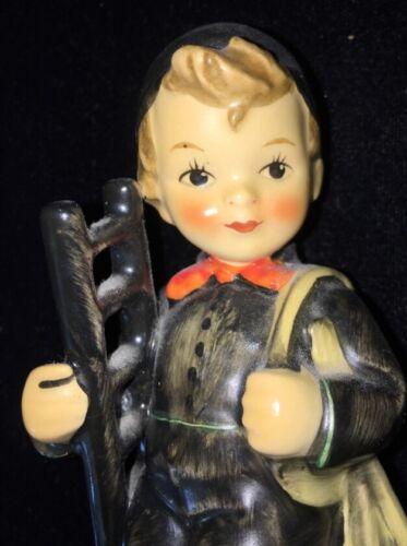 VINTAGE Hummel Chimney Sweep Boy with Ladder Porcelain W. Germany Stamped