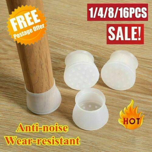 16pcs Silicone Chair Leg Caps Feet Cover Pads Furniture Table Floor Protectors .