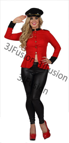 AU Ladies Womens Cheryl Cole X-Factor Pop Soldier Fancy Dress FREE HAT /& POST