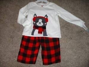 15ccd24c1 Carters Baby Girls Fleece Winter Dog Pajama Set Size 24 Months 24M ...