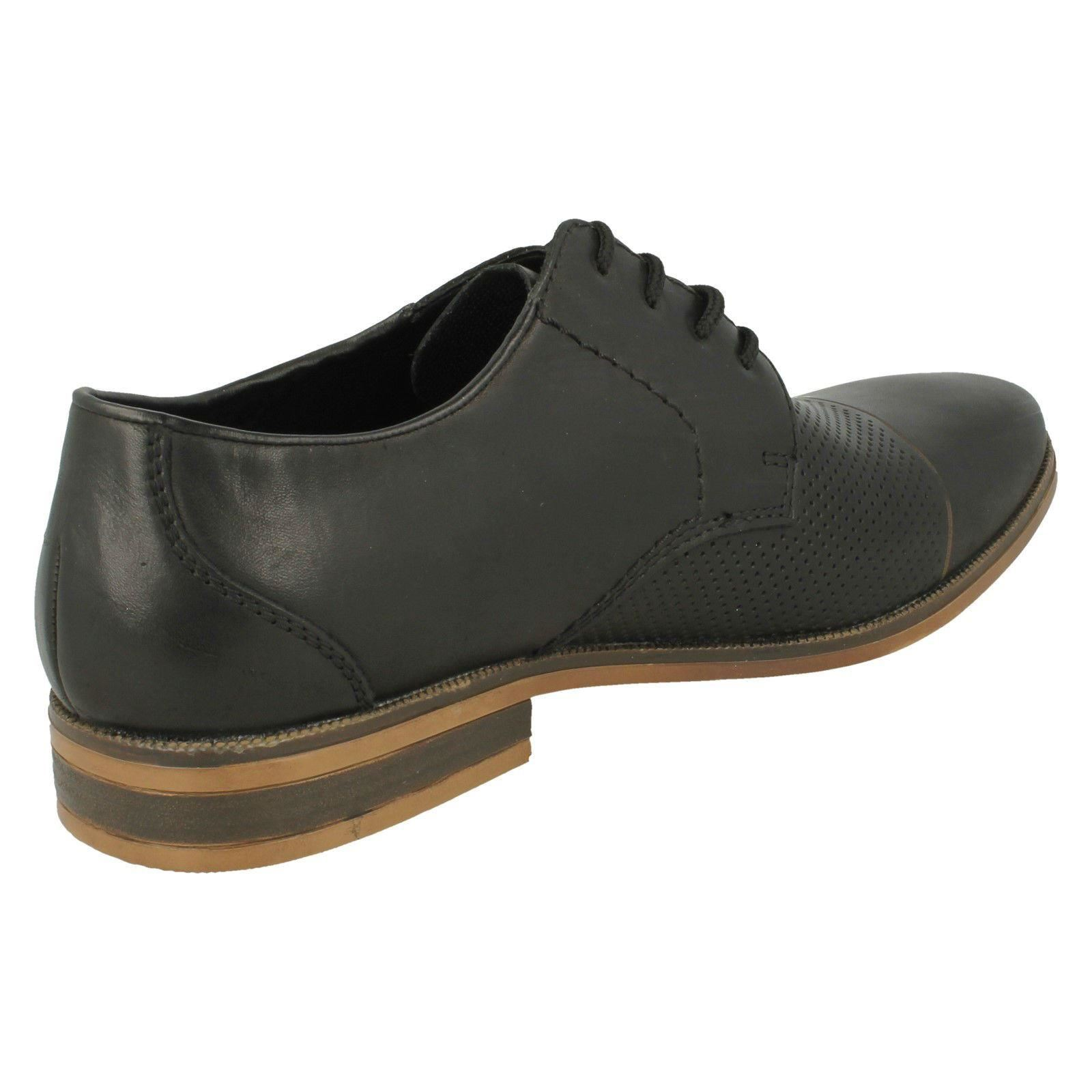 Mens Rieker 11615 Black Leather Smart Casual Lace Up Shoes Shoes Up 613e46