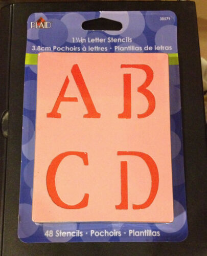 "Plaid:Craft Old School Plaid 1.5/"" Letter Stencils"