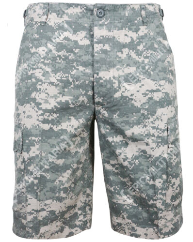 All Sizes Cotton RIPSTOP Combat BDU Cargo Shorts in AT DIGITAL CAMOUFLAGE