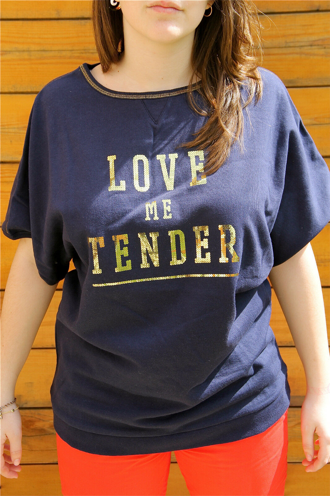 Camiseta Amplio Kanabeach Pétronille T 38 Nuevo con Etiqueta Valor