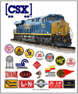 Image is loading RAILROAD-TIN-SIGN-CSX-Railroad-Heritage-Train-Wall-  sc 1 st  eBay & RAILROAD TIN SIGN - CSX Railroad Heritage / Train Wall Art ...