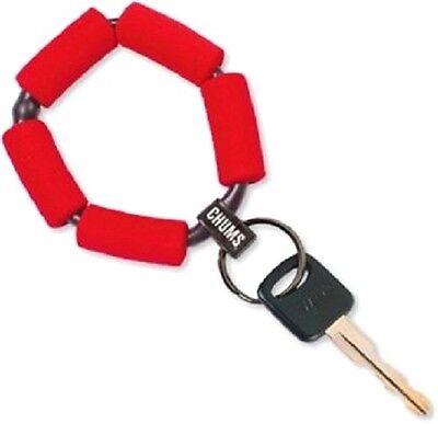 CHUMS RED bracelet boat boating floating key chain marine keychain wrist band
