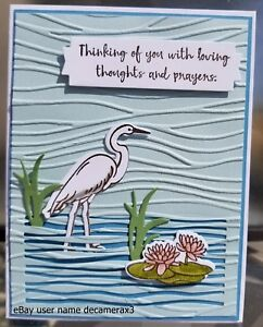 SYMPATHY-GET-WELL-CARD-KIT-STAMPIN-039-UP-LILYPAD-LAKE-HANDMADE-FLOWER