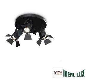IDEAL LUX Applique LAMPADA DA PARETE CIAK AP3 NERO Codice 095691 - Italia - IDEAL LUX Applique LAMPADA DA PARETE CIAK AP3 NERO Codice 095691 - Italia