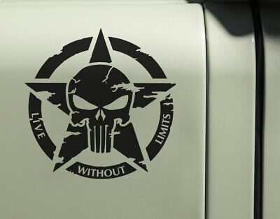 Punisher Mopar Vinyl Decal Sticker Off Road CJ YJ Wrangler Jeep Renegade Jdm