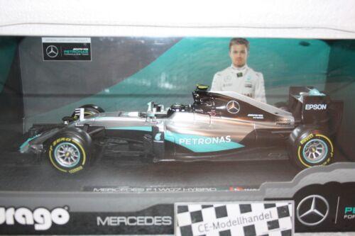 Mercedes F1 W07 Hybrid # 6 Nico Rosberg • 2016 • NEU • Bburago • 1:18