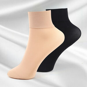 5-10Pairs-New-Winter-Autumn-Womens-Ladies-Girls-Wide-Mouth-Nylon-Ankle-Socks