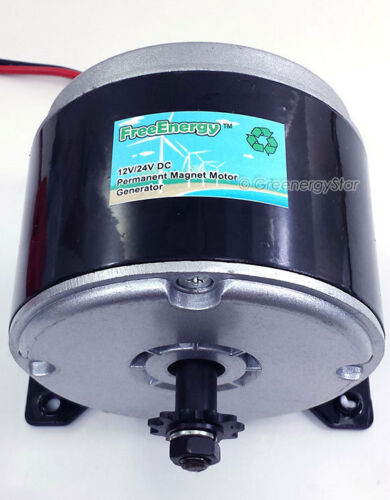 FreeEnergy 12V//24V DC Permanent Magnet Motor Generator for Wind Turbine PMA 350W
