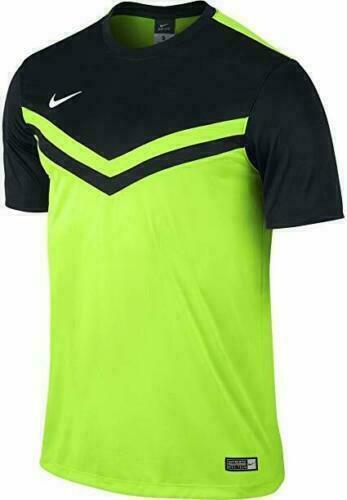 Nike Men's Size M Dri-fit Soccer Jersey Activewear Shirt 588408 Green Black