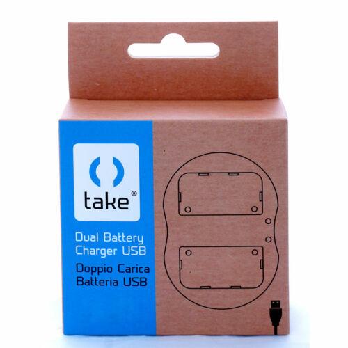 Take TK-UDC EN-EL15 Caricabatterie Micro USB Doppio per Batteria Nikon EN-EL15