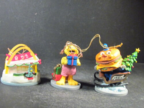 1995 3Pc Set 1 MCDONALD/'S 40 YEARS FAMOUS FIRSTS ORNAMENTS New Old Stock NIB