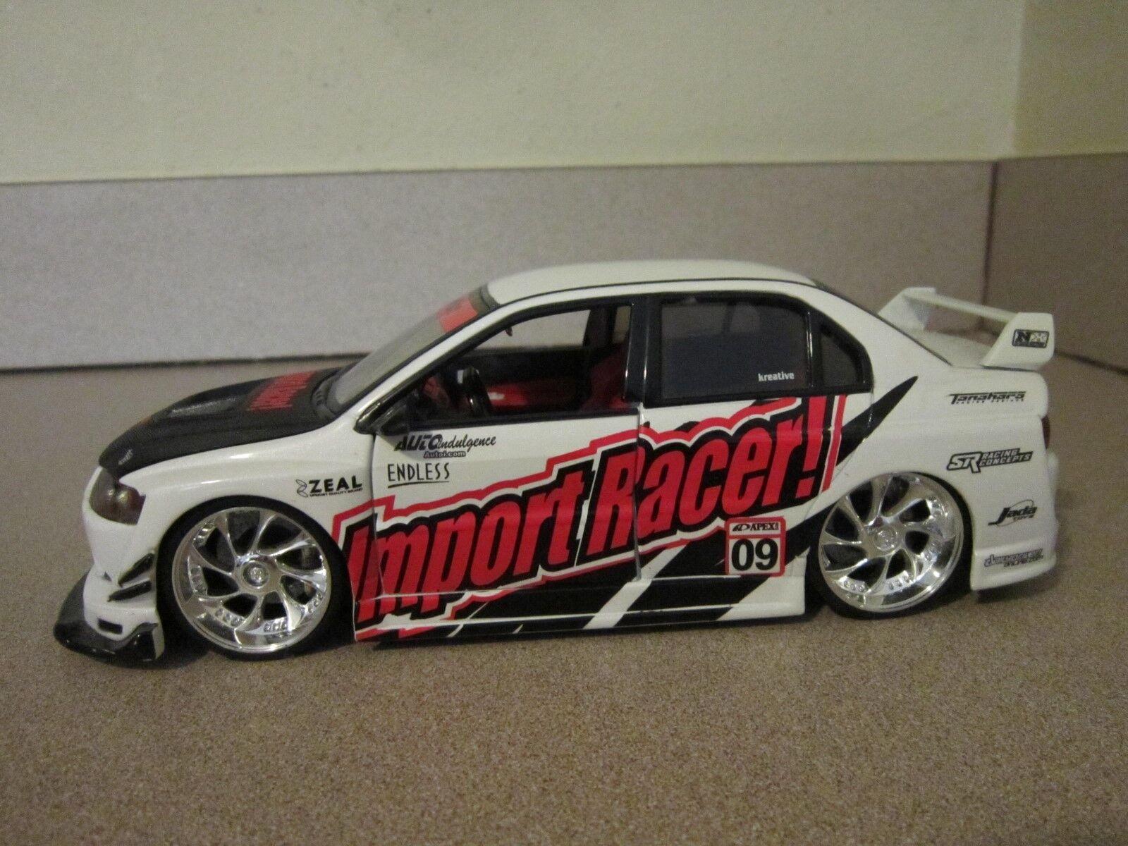 Jada Mitsubishi Lancer Evolution VIII Import Racer Edition EVO 1/24