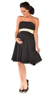 Zoe strapless maternity evening dress with satin sash BRAND NEW Various sizes