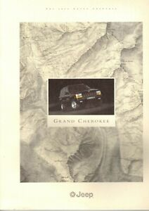 GRAND CHEROKEE BROCHURE 96 SALES CATALOG CHEROKEE 1996 JEEP WRANGLER