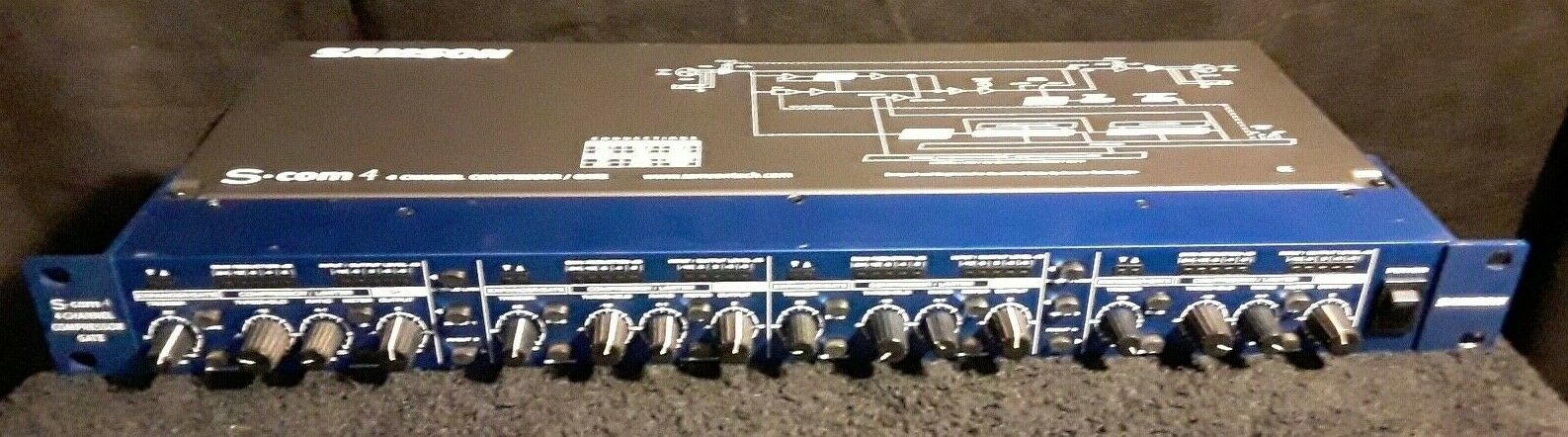 SAMSON 4-CHANNEL COMPRESSOR GATE W POWER CORD