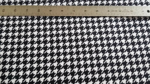"""HOUNDSTOOTH BLACK /& WHITE MINKY CUDDLE BABY SEW CRAFT QUILT FABRIC BTY 60/"""" WIDE"""