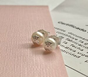 148a97695902 Image is loading Original-TOUS-Silver-and-Pearl-Bear-Stud-Earrings