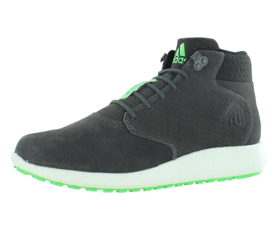 75cb92644f84 adidas D Rose Lakeshore Boost Hi Mens Grey Green Trainers Shoes ...