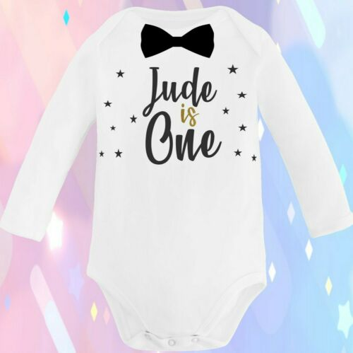 PERSONALISED Baby Boys First 1st 2nd Birthday Outfit Bodysuit Vest Cake Smash