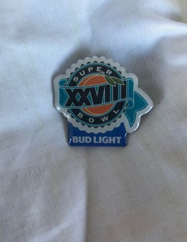 New Bud Light Super Bowl XXVIII Pin SB28 Cowboys Bills