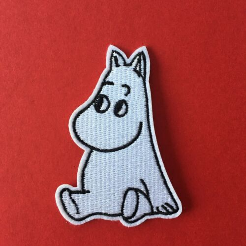 Retro 1980 S Moumines Moomin Troll brodé Appliques Patch Sew Iron #