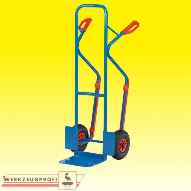 Sackkarre Stahlrohrkarre Transportkarre Luftreifen Tragkraft 300kg Fetra B1330L