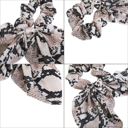 Women/'s Elastic Scrunchies Hair Bands Bow Ponytail Holder Hair Tie Rope Ring