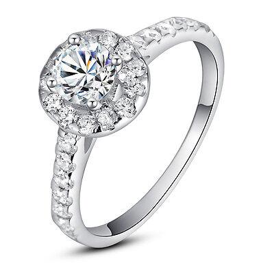 ViVi Ladies Anniversary sterling silver signity Diamond Ring 8463  #7