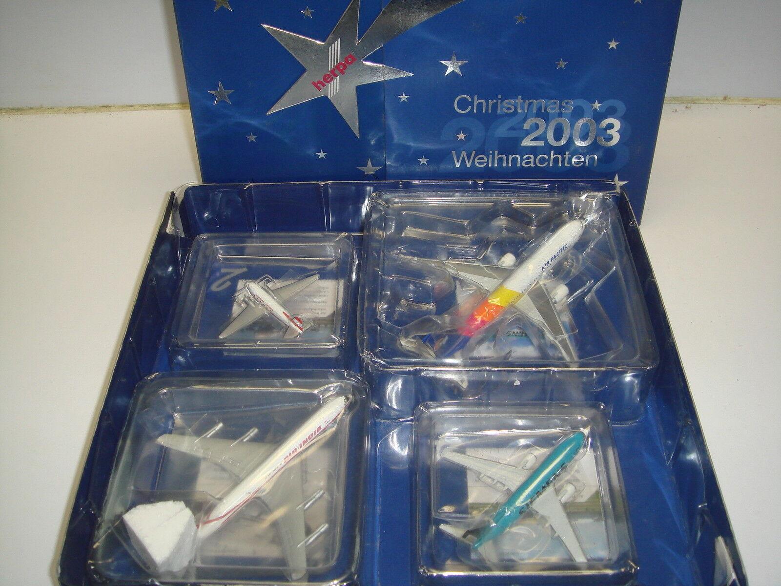 Herpa Wings 500 Advent Calendar X'mas set 2003 NG 1 500
