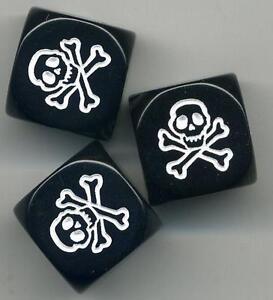 Skull-Dice-Control-Knobs-3-Pack-Brian-Setzer-Gretsch-Guitar-BLACK-FREE-3-Pak